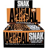 Universal Nutrition Animal Snak High Protein Food, Peanut Butter Chocolate Chips, 12 Count