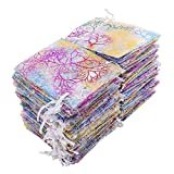 niceeshop(TM) 100pcs Gifts Bags Drawstring Pouches Jewelry Bags,Coralline Pattern Candy Pouch Favor Organza Bags for Party Christmas Wedding
