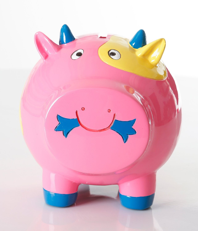 Pink Piggy Bank for Girls, Piggy Bank for Kids, Coin Bank - (Durable, Adorable)