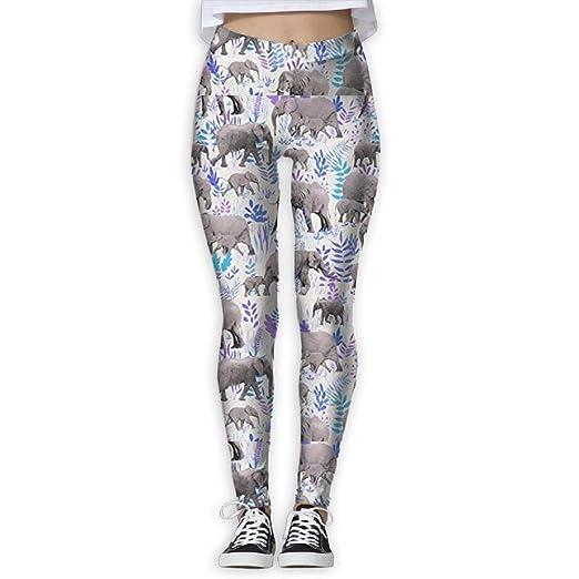 Miedhki Elefantes Dulces En Gris Pantalones De Yog...