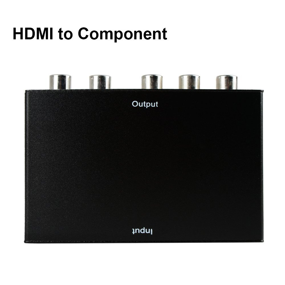HDMI To Component ,ZAMO HDMI To YPbPr Component RGB 1080p Video and R/L Audio Output Converter Adapter Supporting 1080p 2 Channels LPCM -Black
