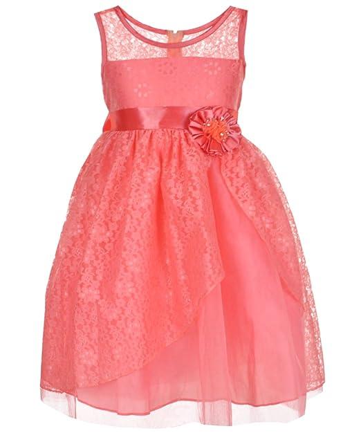 Bona Vestido Para Niña Rosa Coral Amazones Ropa Y