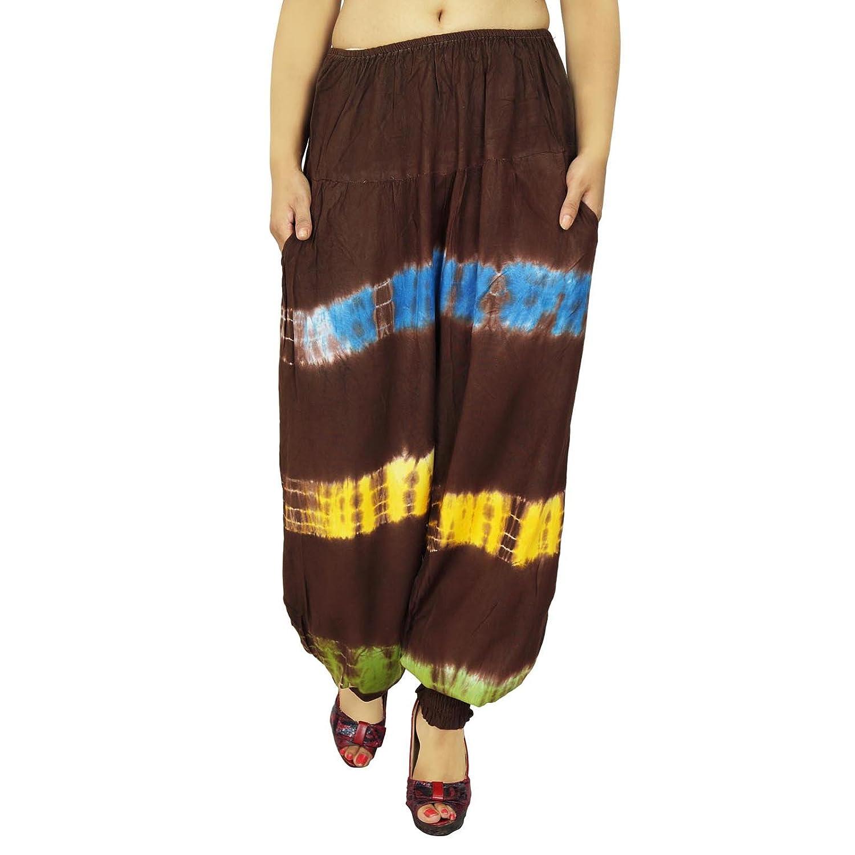Rayon elastische Harem Pants Gypsy Hosen Loose Women Pants Strand Pyjamas