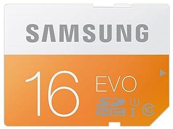 Amazon.com: Samsung SD HC 16 GB 16 G EVO 48 MB/s tarjeta de ...