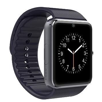 PADGENE Montre Connectée, Smartwatch Bluetooth avec Slot SIM Caméra Podomètre pour Android (Fonctions Complets
