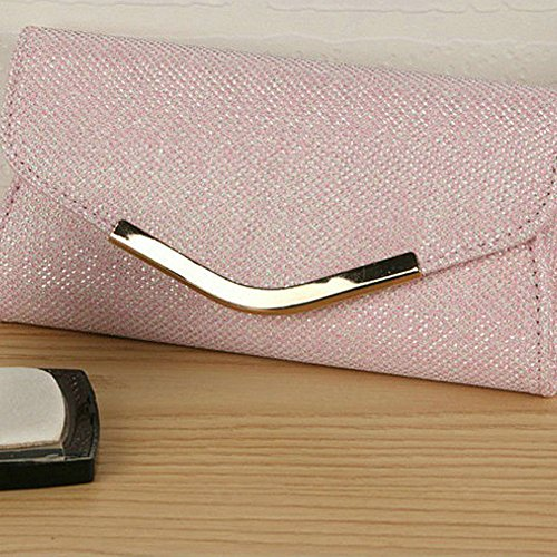 angel3292 Women's Party Evening Pink Bling Bag Purse Luxury Clutch Cocktail Clearance Wedding Glitter Deals Otx8tr
