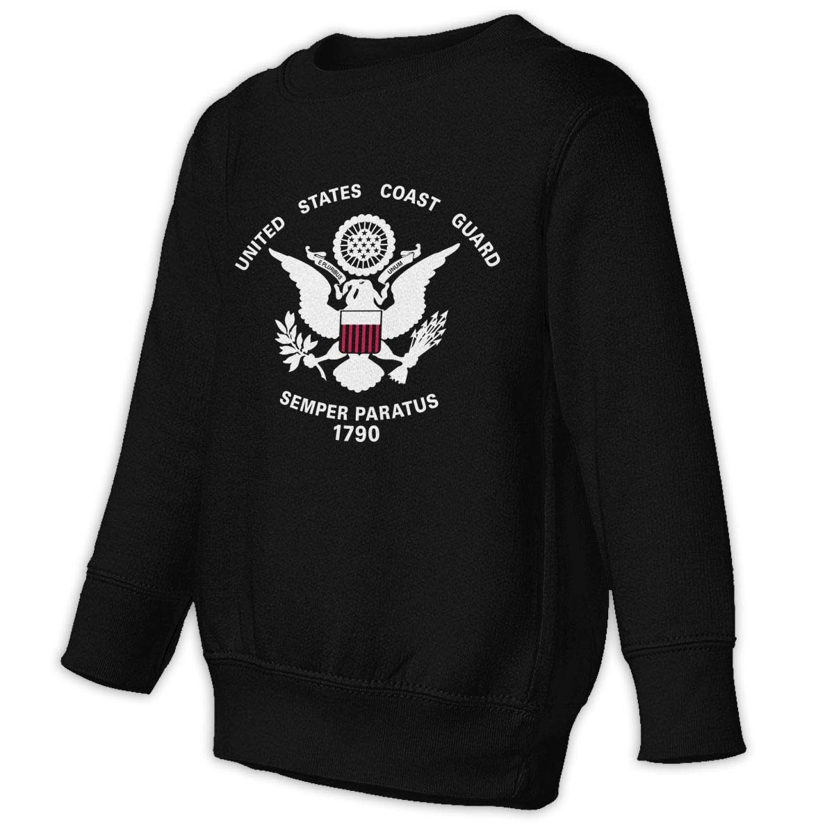 United States Coast Guard 1790 Toddler Unisex Cotton Long Sleeve Round Neck Pullover