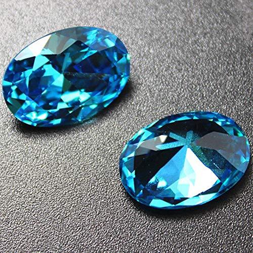 Aquamarine Oval Cut Gemstone Egg Shape Faceted Aquamarine Gem Multiple Sizes to Choose C28A