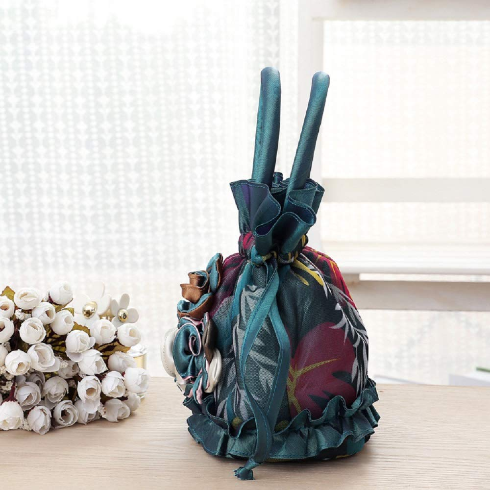 Amazon.com: Bordado pequeña bolsa de lona cubeta Bolsas de ...