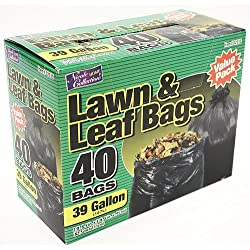 Nicole Home Collection 40 Count Lawn and Leaf Bags, 39 gal