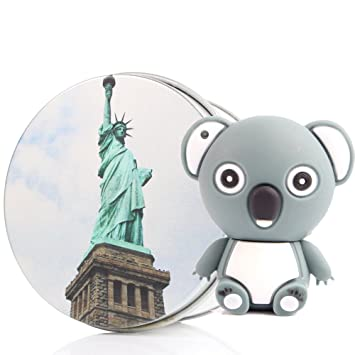 Memoria USB con llavero koala Kenor 8 G/16 G/32G/64G, adorable forma de animal (8.0 GB), color gris