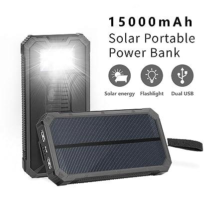 Amazon.com: Cargadores solares solares portátiles de 15000 ...