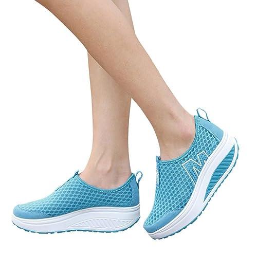 OHQ Zapatillas Deportivas De Mujer Sandalias Romanas Playa Zapatillas Verano Moda Zapatos Individuales Casuales Zapatillas Deporte Altura Creciente CuñAs ...