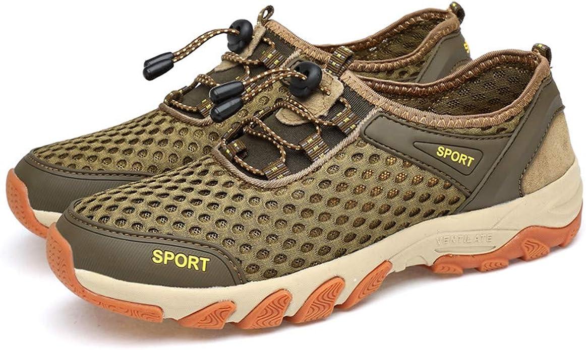 Mocasín de Deportivas Al Aire Libre Acuático Cámping Agua Zapatos Malla Respirable Slip on Antideslizante Alpinismo Verano Zapatillas Verde 43: Amazon.es: Zapatos y complementos