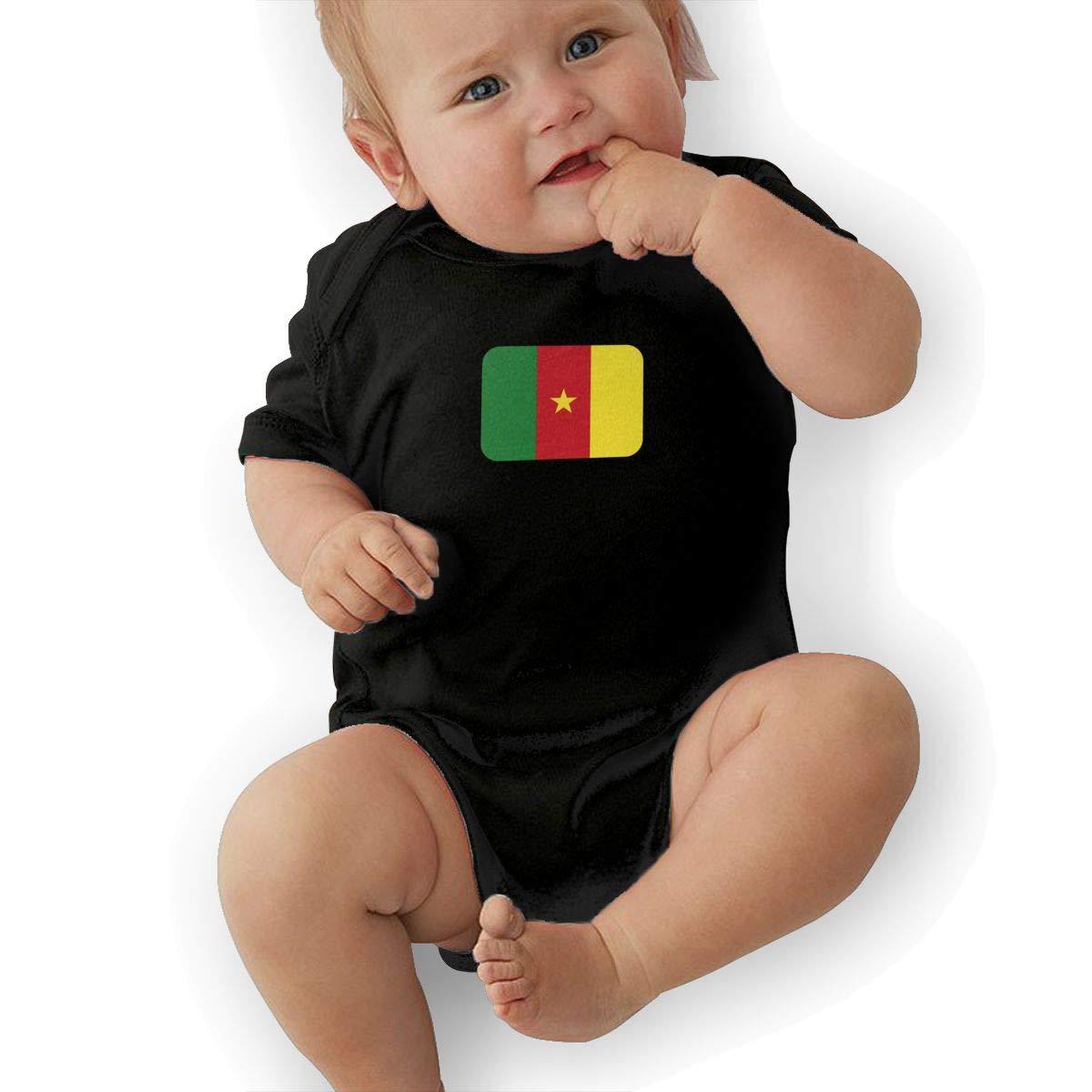 Cameroon Retro Newborn Baby Short Sleeve Bodysuit Romper Infant Summer Clothing