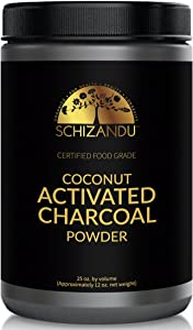 Organic Activated Coconut Charcoal Powder, Food Grade Detox, Huge Jar, in Bulk, for Detoxification,Teeth Whitening, Digestive System, Daily Beauty Face Mask,to Prevent Hangover,Vegan,Kosher, eBook