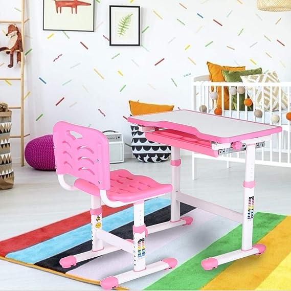 Rose Cuisine Maison Table De Dessin Et Chaise Pour Enfants Avec