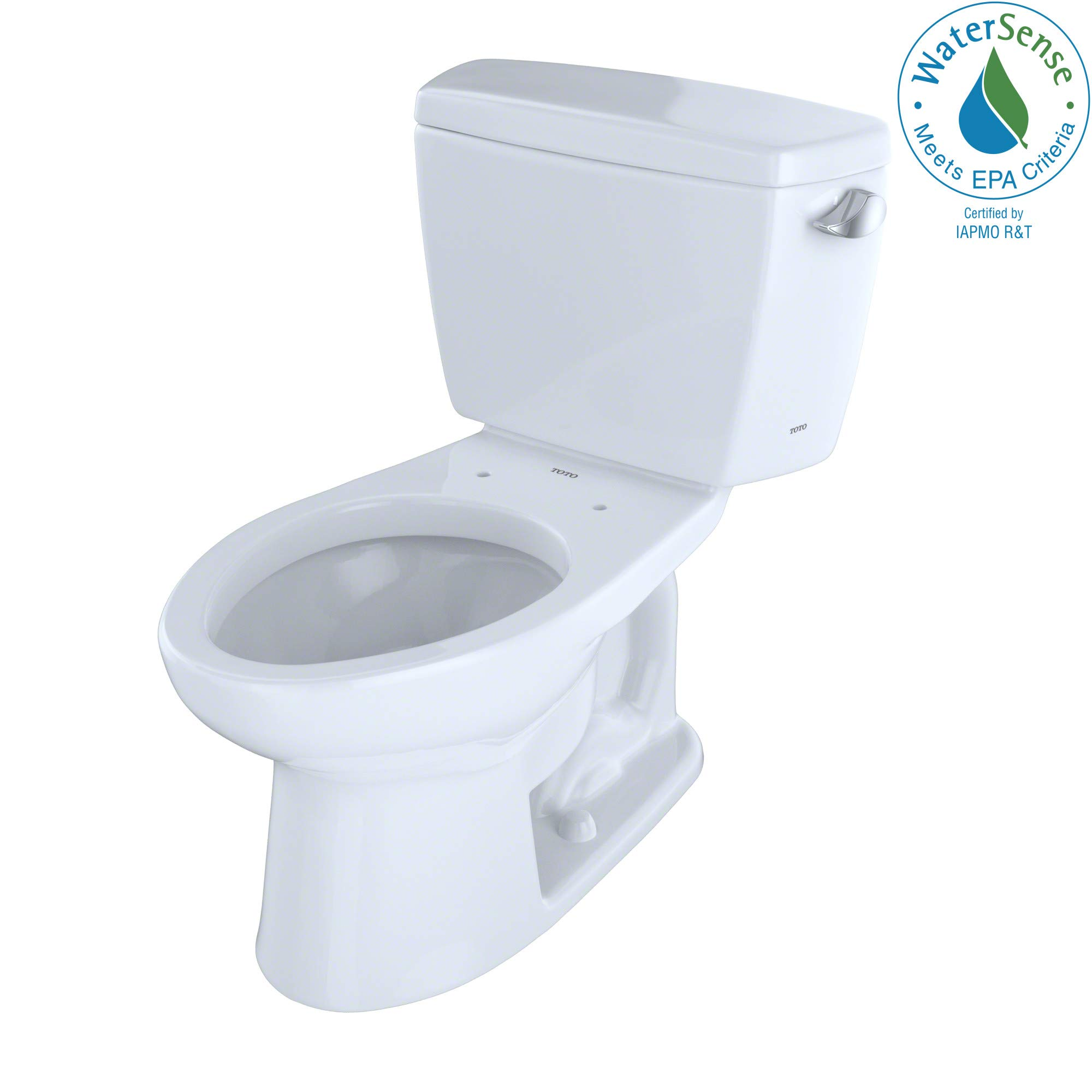 Toto CST744ERBNo.01 Eco Drake Toilet 1.28-GPF with Right Hand Trip Lever and Boltdown Tank Lid Cotton