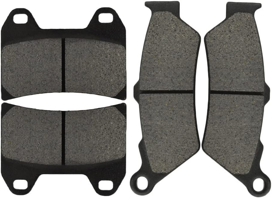 All Models Single Front Rotor Semi-metallic AHL Front /& Rear Brake Pads Set for Victory V92C 1998-2003