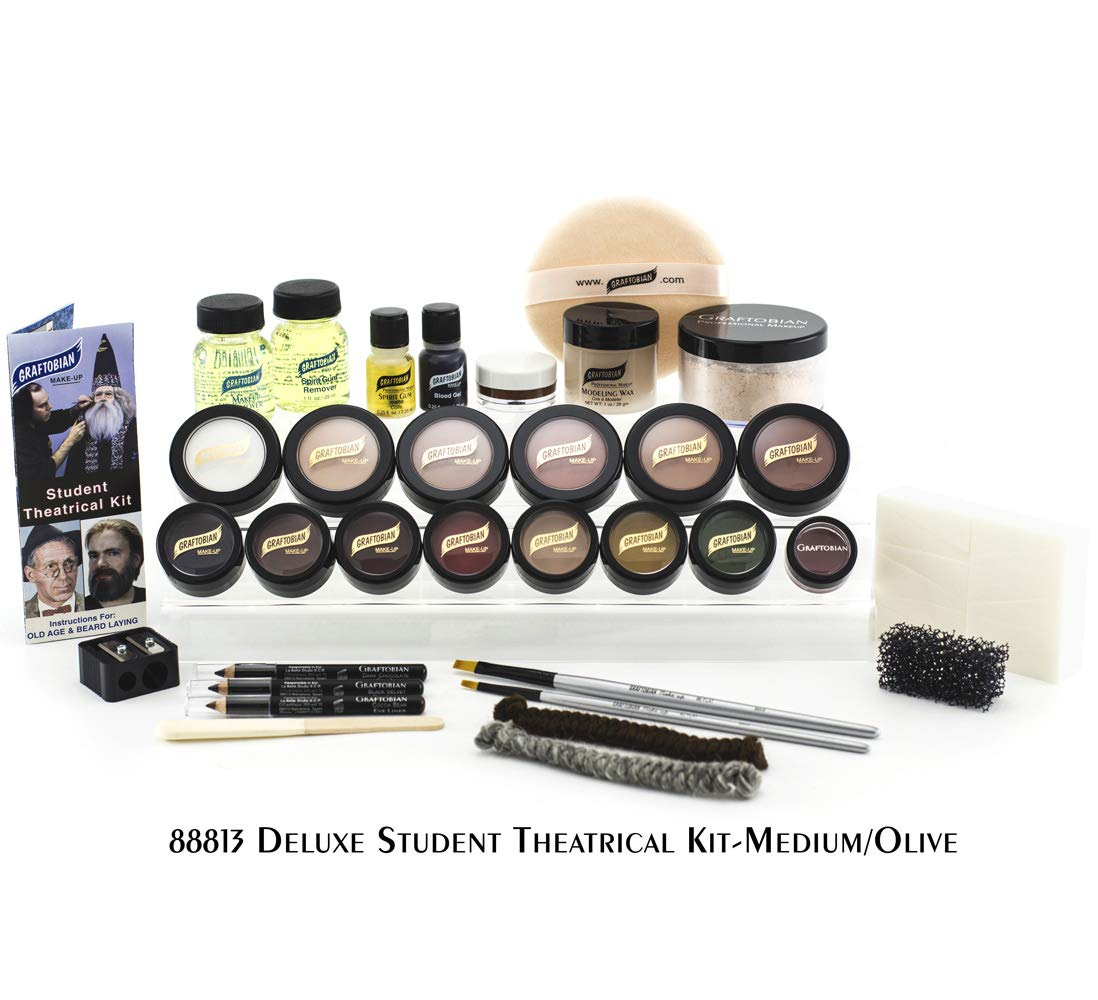 Graftobian Student Theatrical Makeup Kit Deluxe - Medium/Olive