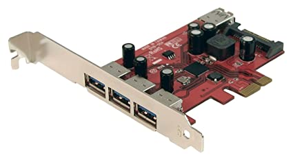 StarTech.com PEXUSB3S4 - Adaptador PCI Express PCI-E de 4 Puertos, USB 3.0