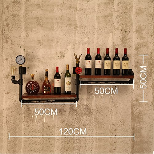 Wine Rack/Hanging Red Wine Cup Holder/Hanging Upside Down Glass Holder/Creative Home Bar/Wine Rack Soporte Colgante de Vidrio Bastidores de Stemware (Color ...