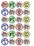 24 x Transformers Rescue Bots Edible Cupcake Toppers