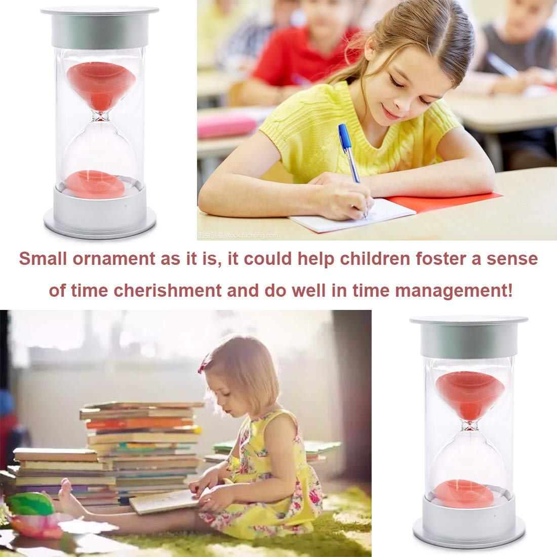 Hilitchi 5 Mins Hourglass Timer for Kids Brushing Teeth for Teachers Classroom with Blue Sand Great Gift Sand Clock Blue for Peace and Love