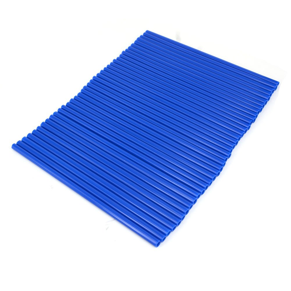 Bleu Lot de 72 Protections en Plastique pour Rayons de Roue de Moto Yamaha YZ 80 85 125 250 YZ125 YZ426F YZ450F WR 250F 426F 450F