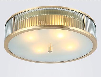 DFHHG® Kupfer Deckenleuchte, Amerikanische Einfachheit Deckenleuchten  Wohnzimmerleuchten American Style Schlafzimmer Restaurant Einfache Moderne  ...