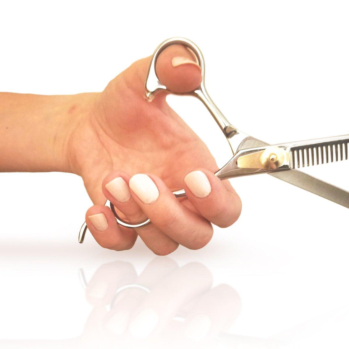 Professional Barber Scissor Hair Cutting Set - 6.5'' - 1 Straight Edge Hair Scissor, 1 Texturizing Thinning Shears, Plus Bonus Faux Leather Case - By ShearGuru … by ShearGuru (Image #9)