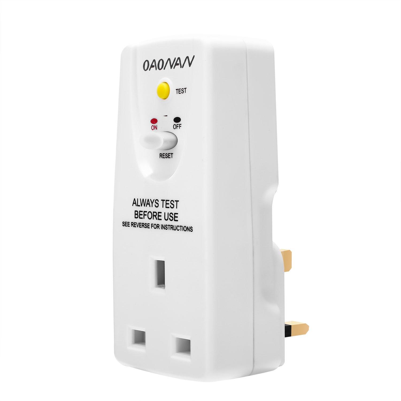 Masterplug ARCDKG RCD Plug-in Adapter Circuit Breaker Safety Trip Switch Garden