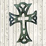 Affaires Wooden Christian Cross 12'' x 8'' Long Hanging with Hand Carvings Religious ,Ideal Gift for Christmas or Birthday W-40221
