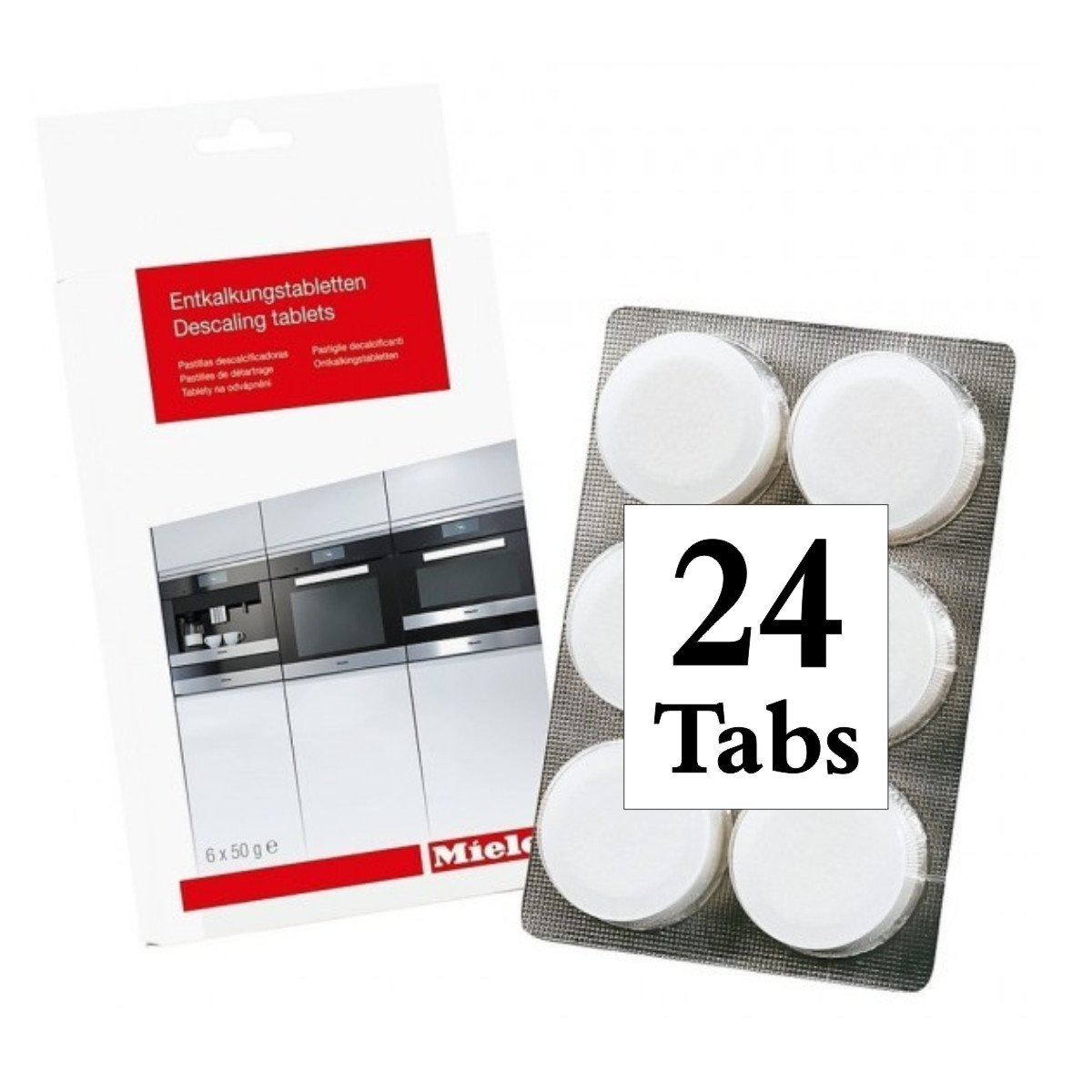 Miele : 10178330 6 Pack Descaling Tablets (4 packages = 24 tablets) by Miele