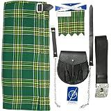 Irish Tartan 5 Piece Kilt Outfit - Size 36