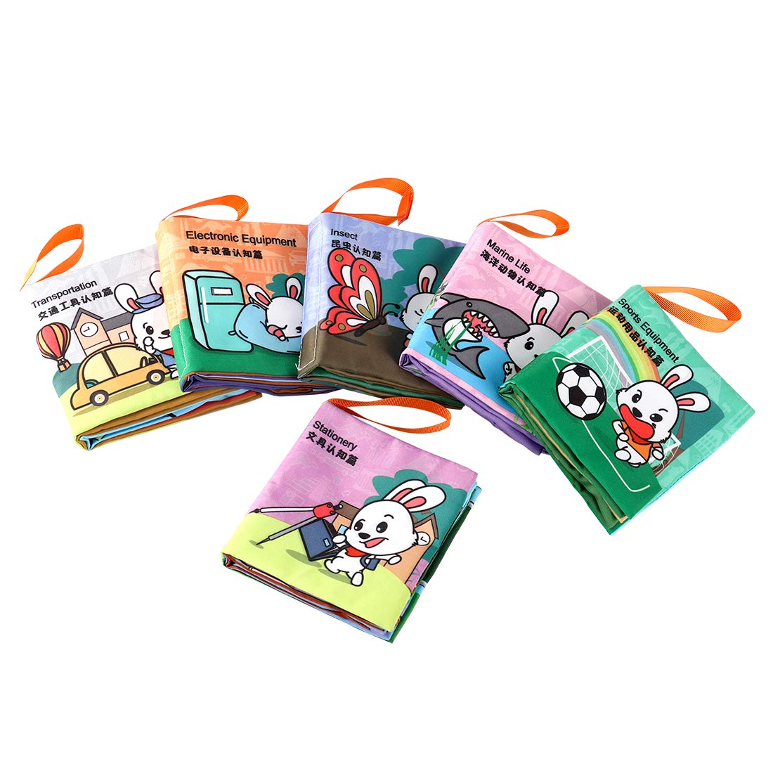 Katoy Rainbow Cloth Books for Baby with Gift Box