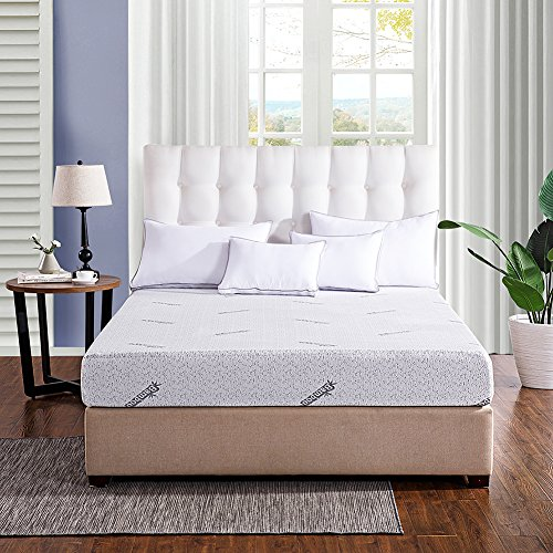Tech Foam (Comfort & Relax Memory Foam Mattress with Gel-infused AirCell Tech, Bamboo Fabric Cover, 8