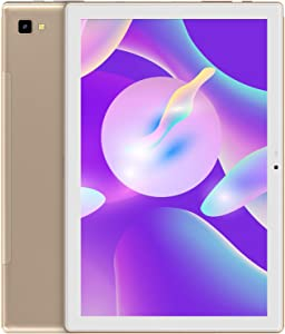 Android 10 Tablet: Blackview Tablet 10.1 inch 3GB+32GB, 6580mAh Battery, 13MP+5MP Dual Cameras, 1920×1200 FHD IPS Display, Otca Core Processor Android Tablet, WiFi Support-Gold