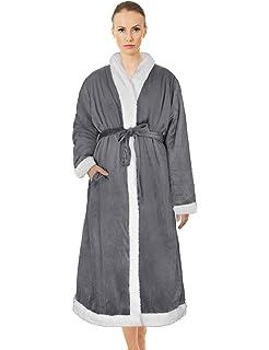 Amazon.com  Home Soft Things Men   Women Bathrobe Printed Microfiber ... e554fac4e