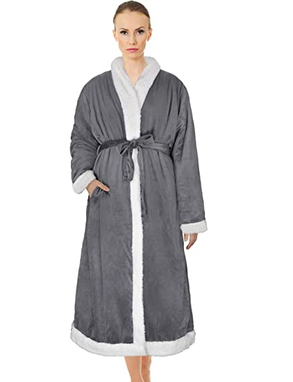 dddc2fc252 Amazon.com  Catalonia Women s Sherpa Bathrobe