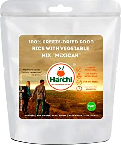 "Harchi 100% Freeze-Dried Food | Rice with Vegetable Mix ""Mexican"" 