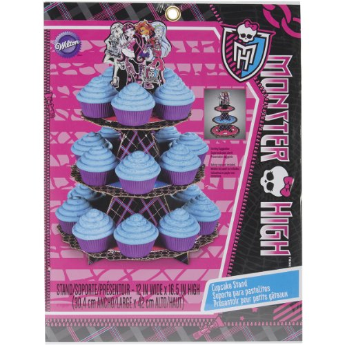 Wilton 1512-6677 Monster High Cupcake Stand (High Monster Cake Topper)