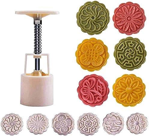 Symboat 100g 50g P/âtisserie Mooncake Moule Cookies Mooncake Moule avec Tampons De Fleurs