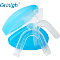 Custom Thermoplastic Mouth Trays Teeth Whitening Mouldable Bleaching Gum Shield with Retainer Case - Tooth Mouth Guard 2 Pack (1 Upper and 1 Lower)