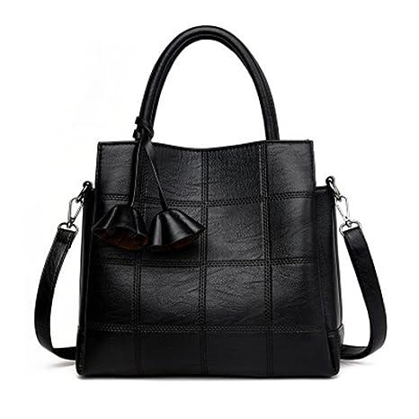 e0f60b08aaa4 Amazon.com: UOXMDNJC Pu Leather Women Shoulder Bags Vintage Tassel ...