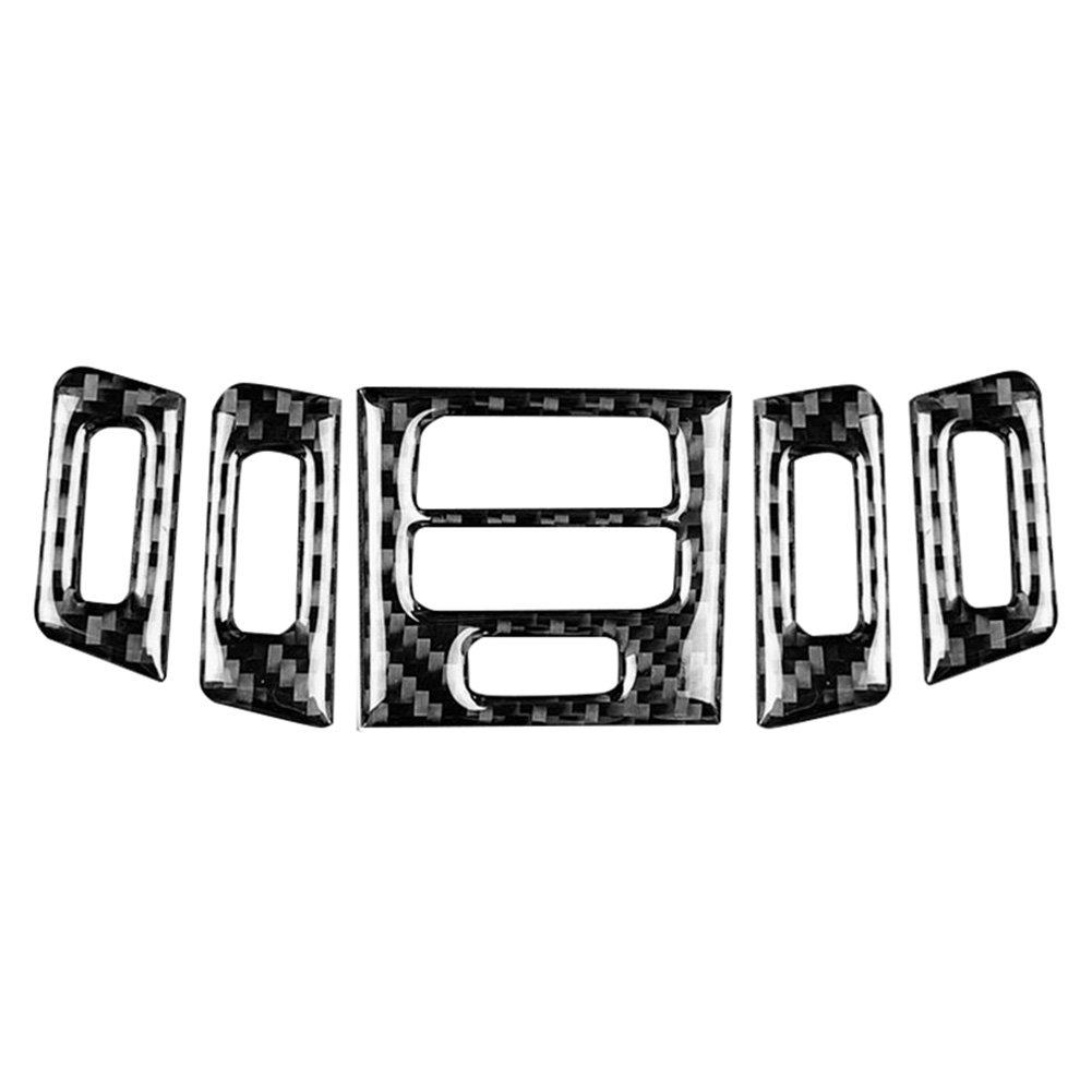 Kohlefaser Innenraumklimaanlage Ausgangsblende Rahmenabdeckung f/ür E90 A Bel/üftungsblende Abdeckung 92//93
