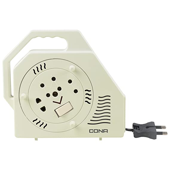 Cona Smyle King Deluxe 2-Pin Flex Box with 4.5-meter Wire (White) Extension Cords at amazon