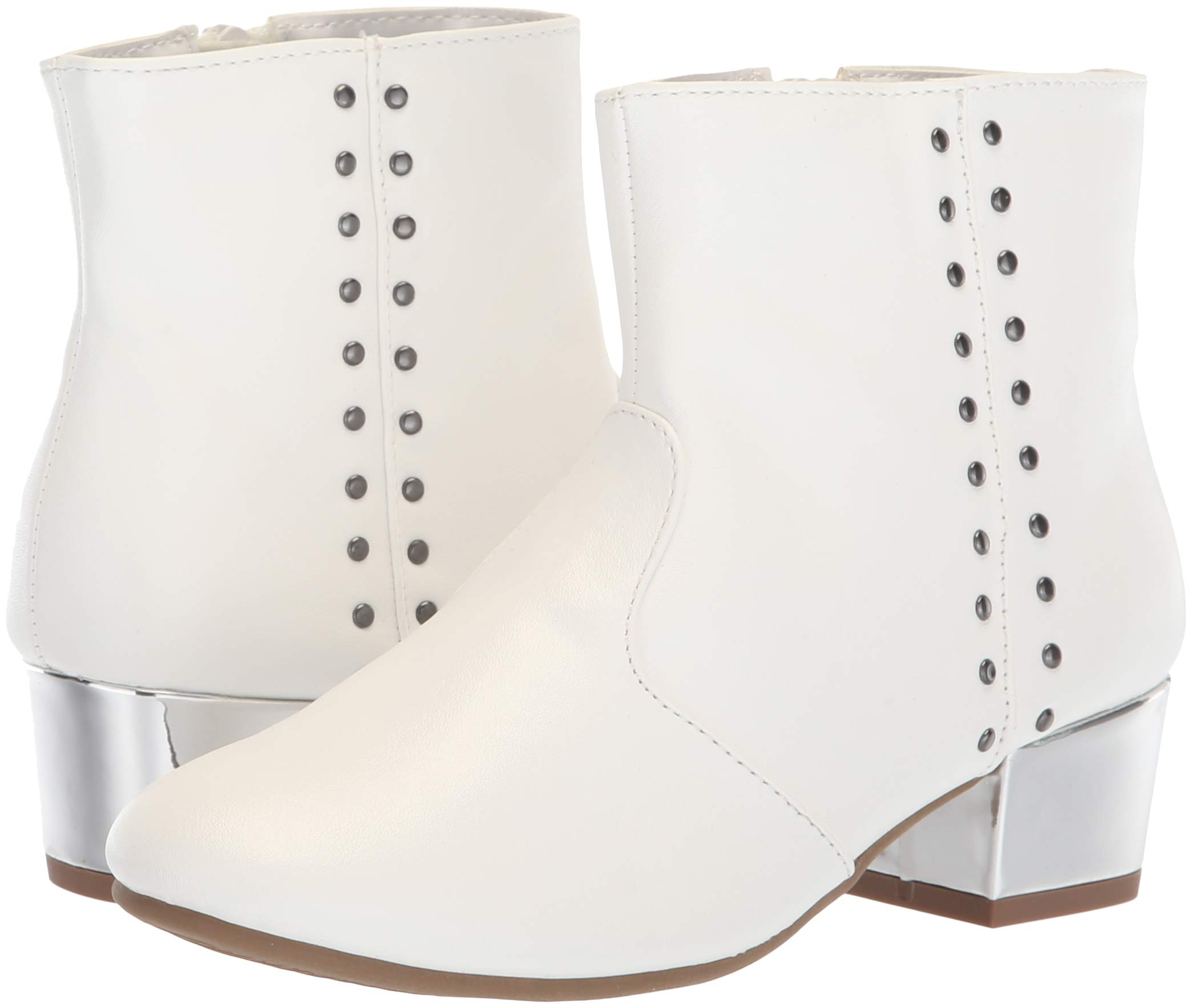 The Children's Place Girls' Bootie Fashion Boot, White, Youth 3 Child US Little Kid by The Children's Place (Image #6)