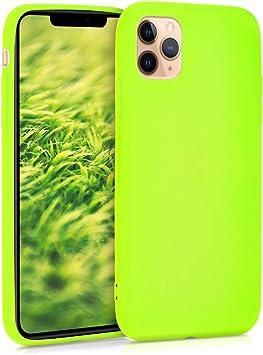 kwmobile Coque pour Apple iPhone 11 Pro Max - Housse Protectrice pour Téléphone en Silicone Jaune Fluo