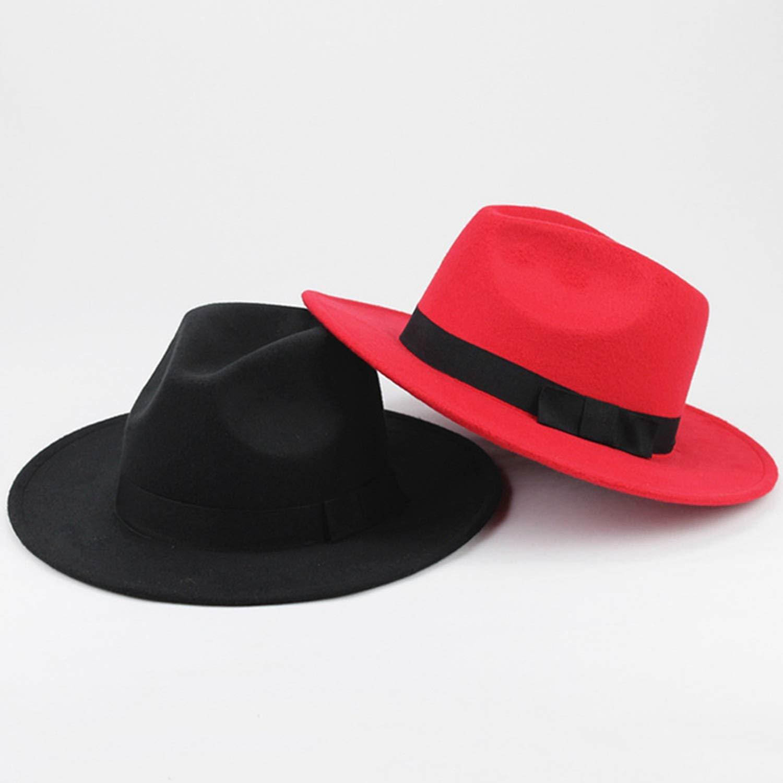 Fashion Vintage Men Women Unisex Classic Blower Jazz Hat Black Fedora Trilby Hat